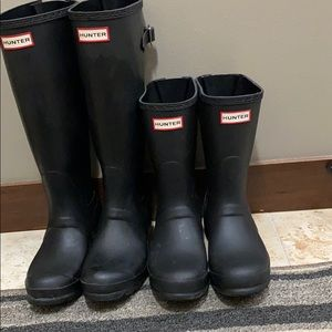 Hunter boots extended calf